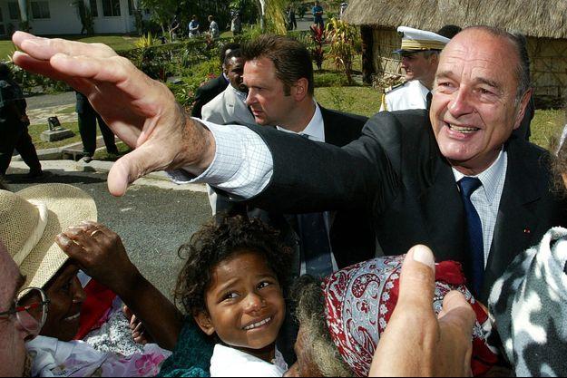 Jacques Chirac en Nouvelle-Calédonie en 2003.
