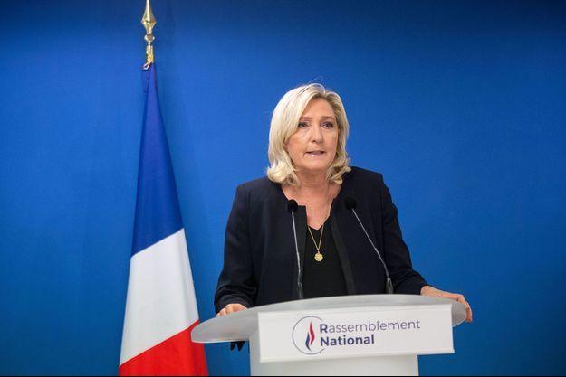 Marine Le Pen ici lors du premier tour des municipales.