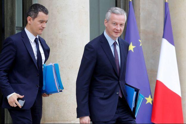 Gérald Darmanin et Bruno Le Maire, ici en 2017 à l'Elysée.
