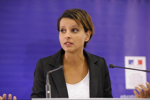 Najat Vallaud-Belkacem, lundi, à l'occasion de sa conférence de presse de rentrée.