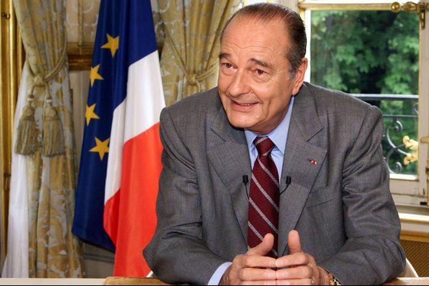 Jacques Chirac ici à l'Elysée le 14 juillet 2001.