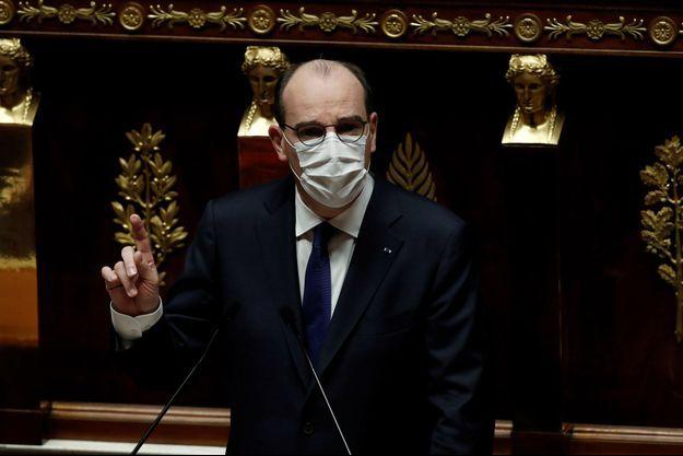 Le Premier ministre Jean Castex à l'Assemblée jeudi.