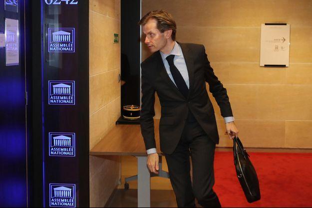 Le corapporteur LR Guillaume Larrivé , à l'Assemblée mercredi.