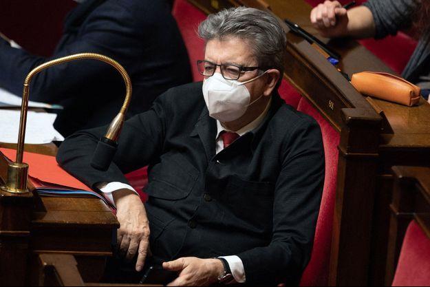 Jean-Luc Mélenchon, à l'Assemblée nationale mi-février.