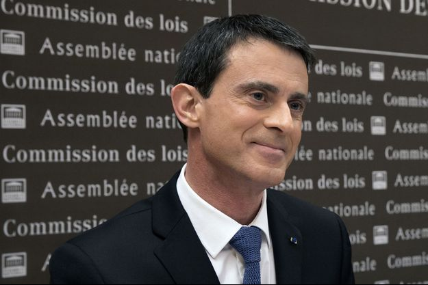 Manuel Valls à l'Assemblée nationale devant la commission des Lois