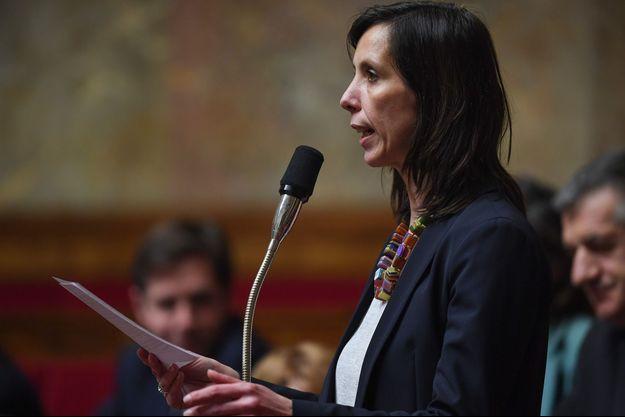 La députée, Albane Gaillot, à l'Assemblée en février.