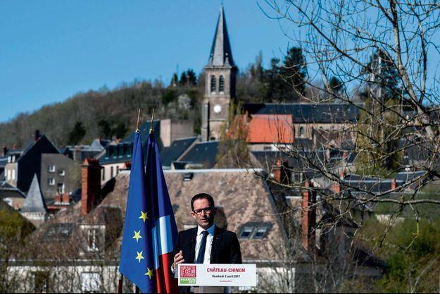 Benoît Hamon le 7 avril à Château-Chinon