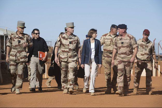Florence Parly, la ministre des Armées, lors d'un déplacement à Gao, au Mali, en 2019.