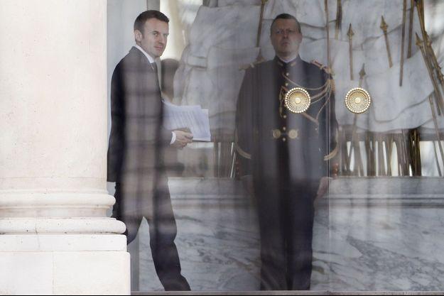 Emmanuel Macron à l'Elysée le 15 mai.