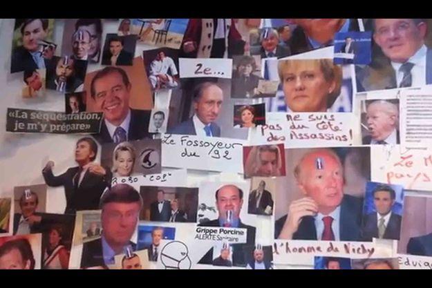 """Le """"mur des cons"""" du syndicat de la magistrature."""