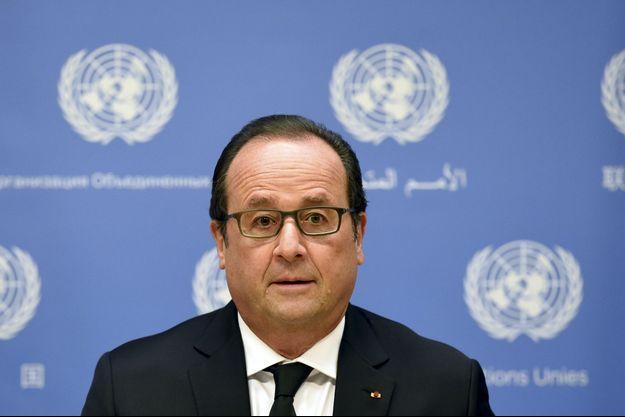 François Hollande photographié aux Nations unies, à New York.
