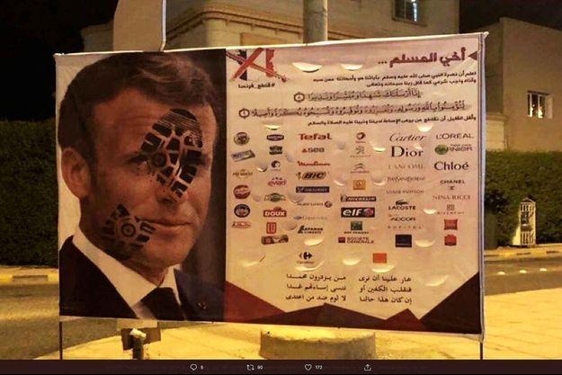 Un appel au boycott des produits français.