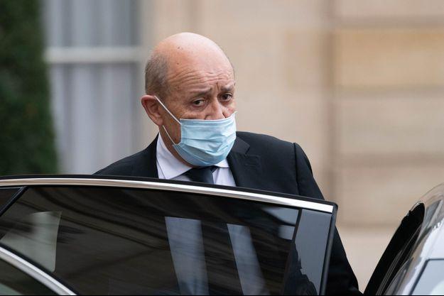 Jean-Yves Le Drian, mercredi à l'Elysée.