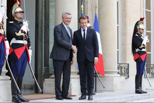 Emmanuel Macron a reçu lundi à l'Elysée le président du HCR Filippo Grandi.