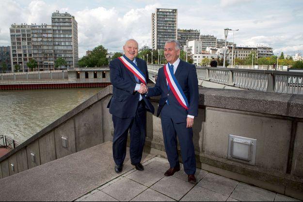 André Santini (Issy-les-Moulineaux) et Pierre-Christophe Baguet (Boulogne-Billancourt)