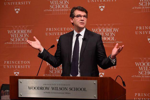 Arnaud Montebourg à Princeton, le 23 février.