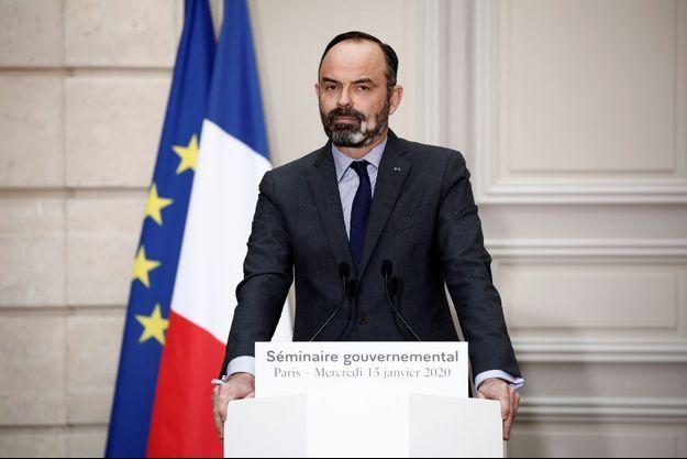 Edouard Philippe mercredi à l'Elysée lors de la clôture du séminaire gouvernemental.