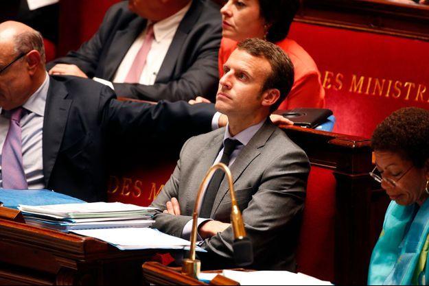 Emmanuel Macron à l'Assemblée nationale.