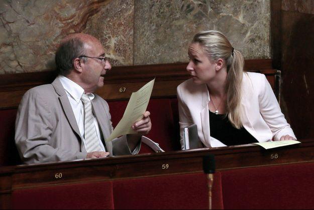 Jacques Bompard et Marion Maréchal-Le Pen à l'Assemblée nationale.
