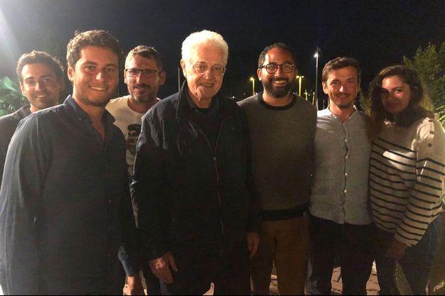 De g. à dr. : Stéphane Séjourné, Gabriel Attal, Matthieu Orphelin, Lionel Jospin, Guillaume Chiche, Aurélien Taché et une amie.