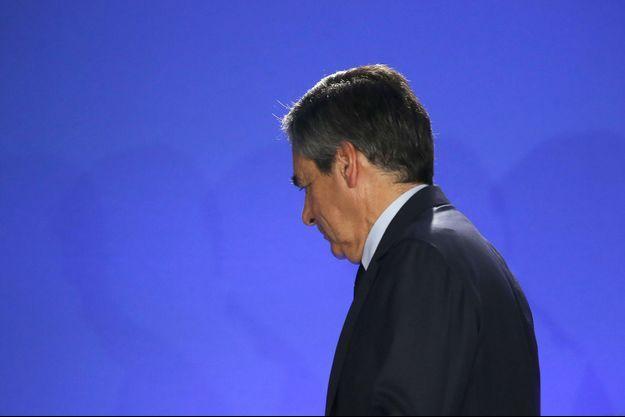 François Fillon le soir de sa défaite, le 23 avril 2017.