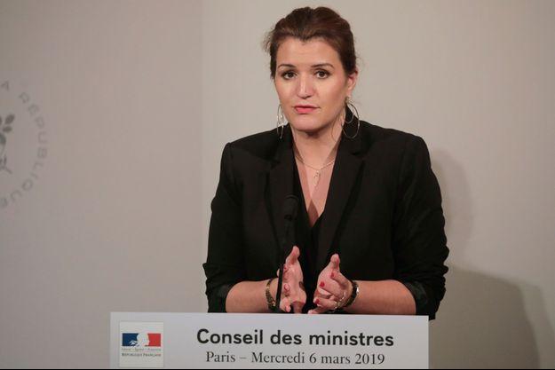 Marlène Schiappa mercredi à l'issue du Conseil des ministres.
