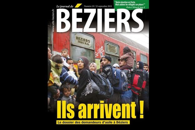 La couverture du journal municipal de Béziers.