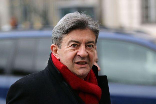 Jean-Luc Mélenchon mardi après sa rencontre avec François Hollande à l'Elysée. Les deux hommes ont évoqué la question de la Grèce.