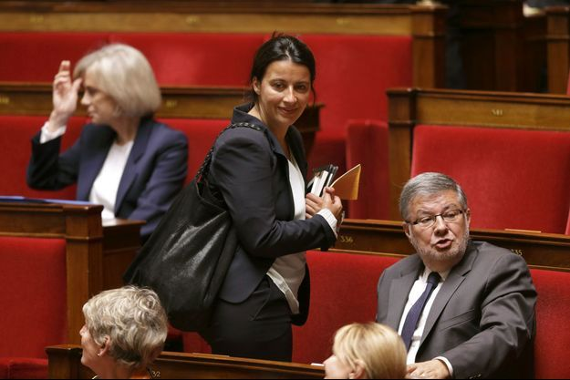 Cécile Duflot mardi, lors de son retour à l'Assemblée nationale.