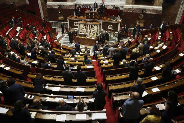 Dans l'hémicycle, au moment de l'adoption du projet de loi organique par l'Assemblée nationale, mercredi soir.