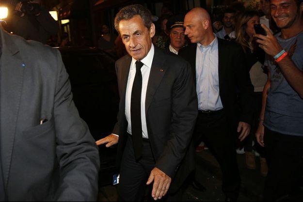 Nicolas Sarkozy, le 2 juillet dernier, après sa garde à vue dans le cadre de l'affaire sur des soupçons de trafic d'influence.
