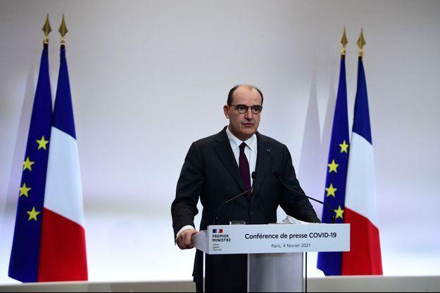 Jean Castex lors de la conférence de presse jeudi 4 février.