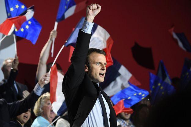 Emmanuel Macron en meeting à Arras le 26 avril.