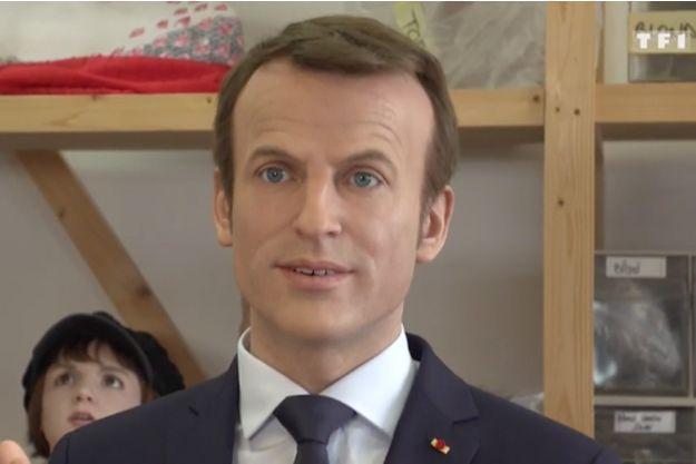 """La statue de cire dévoilée dimanche dans l'émission """"Sept à huit""""."""