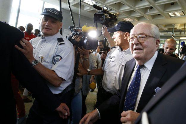 Jean-Marie Le Pen le 12 juin dernier au tribunal de Nanterre.