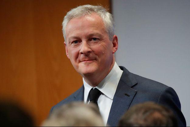 Bruno Le Maire a semaine dernière lors d'une cérémonie de voeux à Bercy.