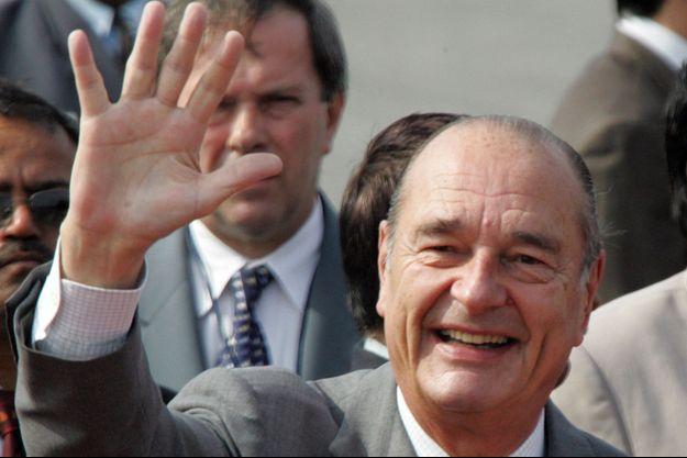 Jacques Chirac en février 2006, lors d'une visite d'Etat en Inde.