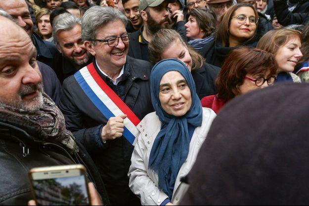 Jean-Luc Mélenchon lors de la manifestation du 10 novembre à Paris.