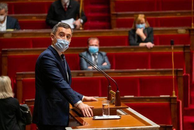 Gérald Darmanin à l'Assemblée nationale lundi.