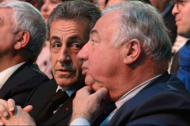 Nicolas Sarkozy et Gérard Larcher.