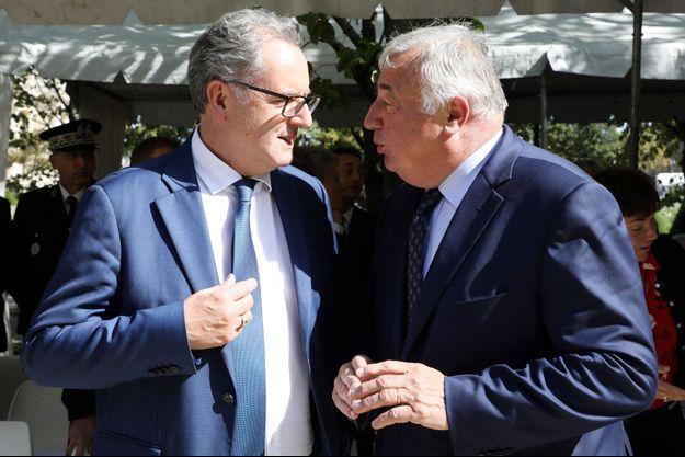 Richard Ferrand et Gérard Larcher en septembre 2018