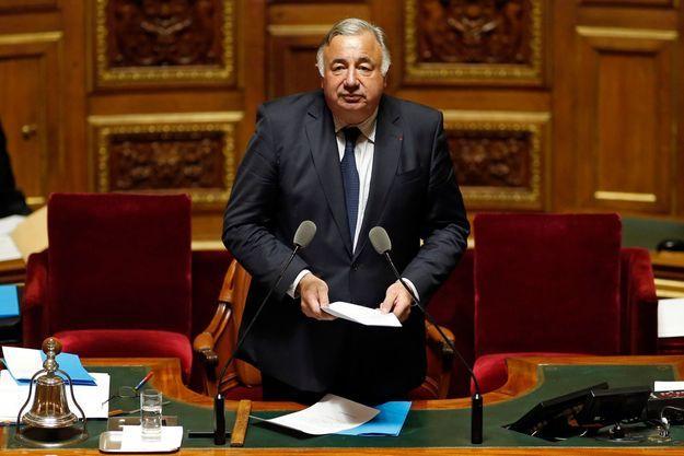 Gérard Larcher lors de son premier discours de président du Sénat, ce mercredi.