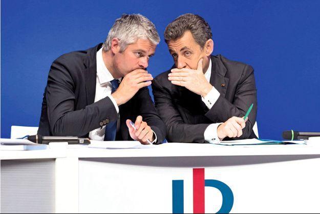 Laurent Wauquiez et Nicolas Sarkozy au conseil national des Républicains, le 2 juillet dernier.
