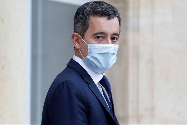Gérald Darmanin mercredi à l'Elysée en marge du Conseil des ministres.