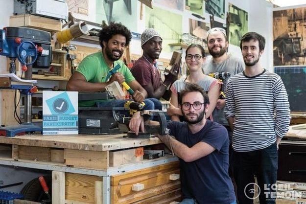 Un atelier collaboratif de menuiserie dans le XXe arrondissement de Paris.