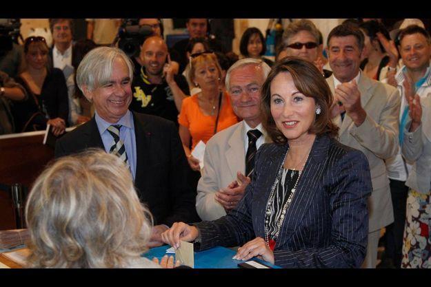 Ségolène Royal a voté à La Rochelle.