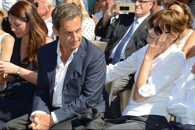 Carla Bruni-Sarkozy et Nicolas Sarkozy en juillet dernier