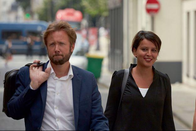 Boris Vallaud et Najat Vallaud-Belkacem le 24 juin à Paris.