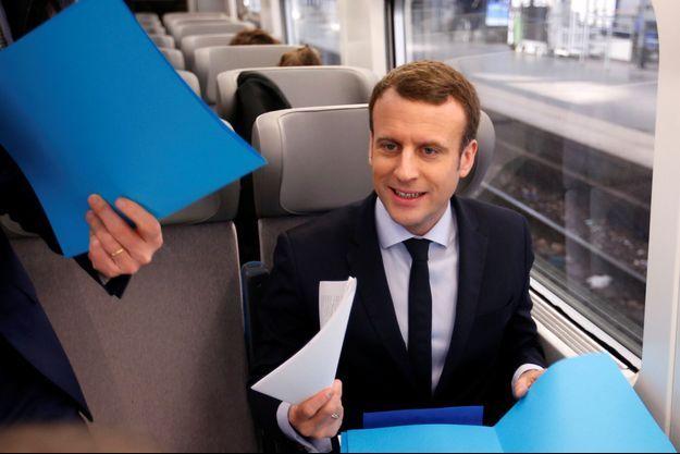 Emmanuel Macron, fondateur d'En marche! et candidat à la présidentielle.