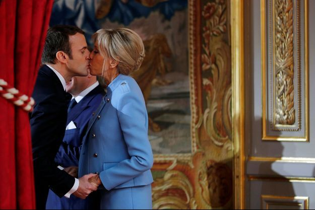 Emmanuel et Brigitte Macron, lors de l'investiture du président, le 14 mai 2017.